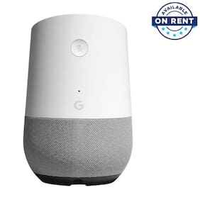Google HOME Portable Wired Speaker ( White ) (On Rent)
