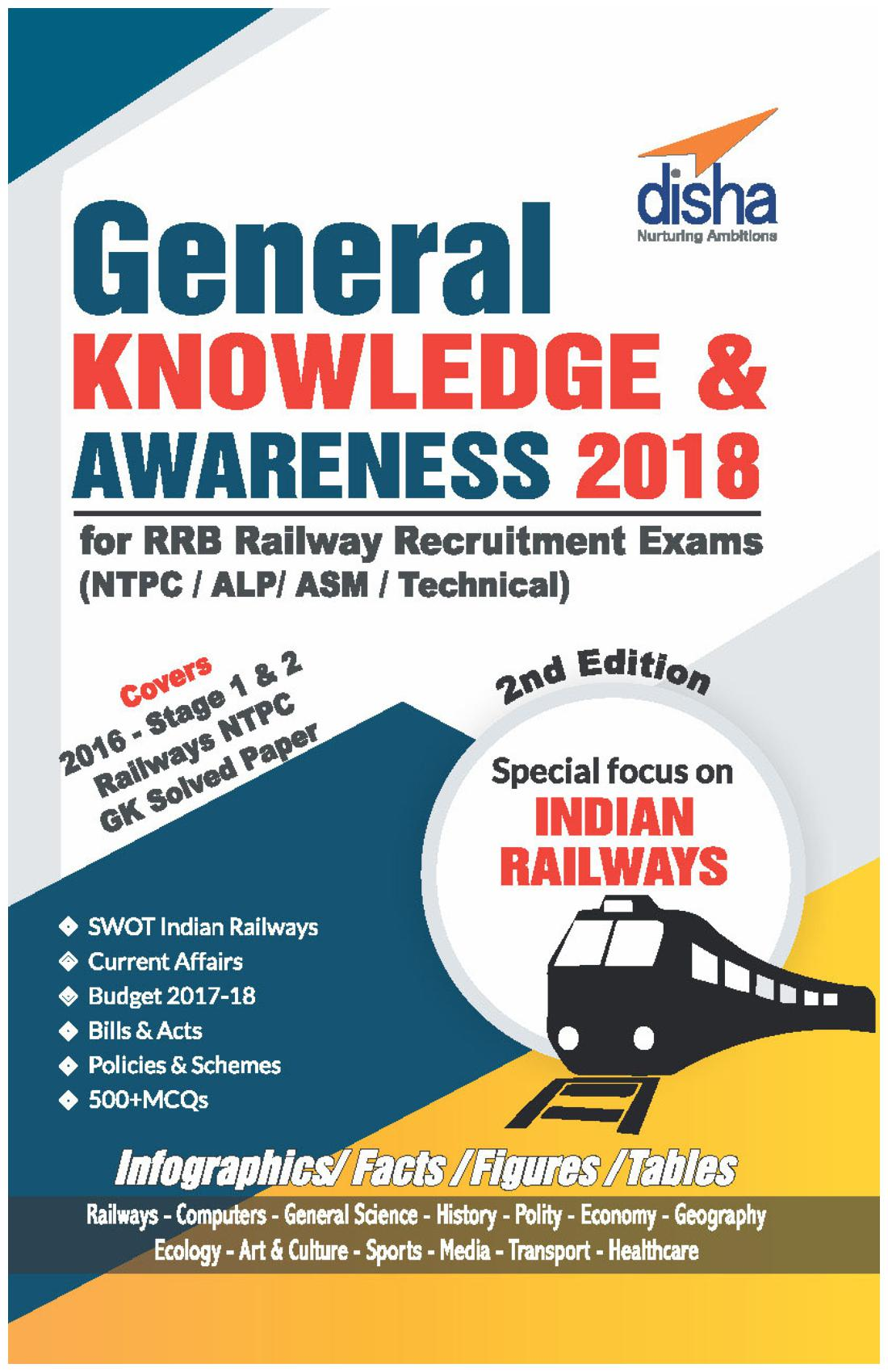 General Knowledge And Awareness 2018 For Rrb Railway Recruitment Exams (Ntpc/ Alp/ Asm/ Technical) 2Nd Edition