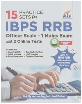 15 Practice Sets for IBPS RRB Officer Scale 1 Mains Exam with 2 Online Tests