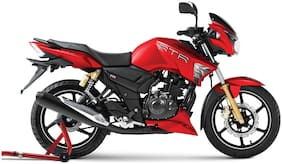 TVS Apache 180 Disc Matte Red (Ex-Showroom Price)