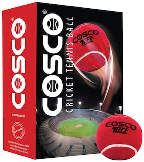 Cosco Tuff Cricket Tennis Cricket Ball (Pack Of 12)