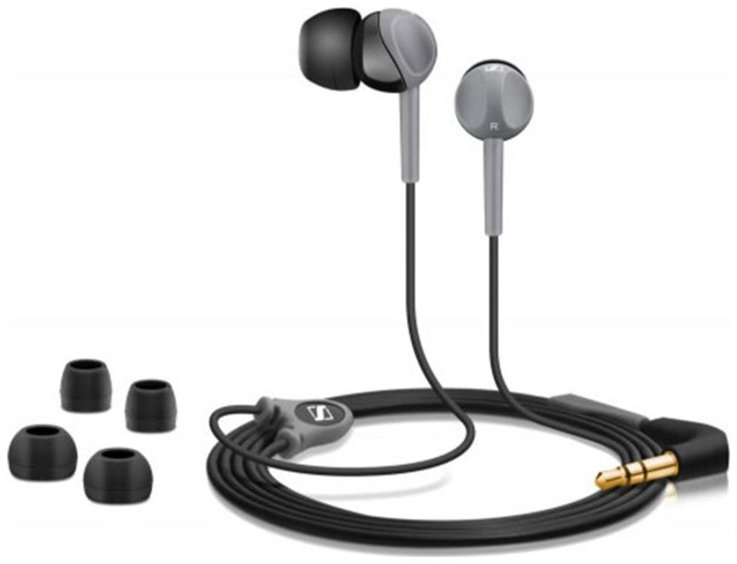 Sennheiser CX 180 In Ear Wired Headphone   Black   Grey   by Universe