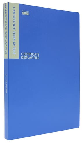 Solo Certificate Display File (20 Pockets)