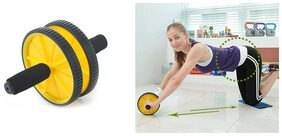 Protoner Double Exercise Wheel With Knee Cushion