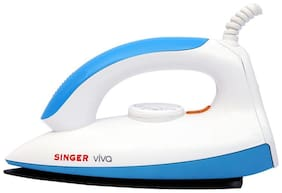 Singer Viva 1000 W Dry Iron (White & Blue)