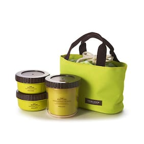 Lock&Lock Eco Life Lunch Box Set (Large) With Green Bag
