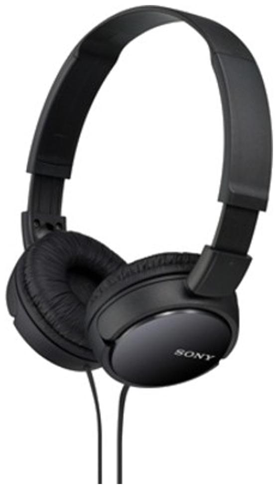 Sony MDR ZX110 On Ear Wired Headphone   Black   by Universe