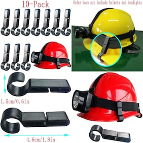 10 Count Of Home Tool Helmet Clips Headlamp Light Clip Hook Hard Hat Head Lamp