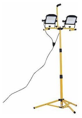 10000 Lumen Dual Head Weather Resistant LED Work Lights with Tripod Stand Y9N4