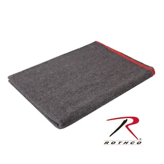 "10429 Rothco Grey Wool Survival Emergency Rescue Blanket 60"" x 80"""