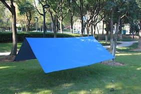 10x10ft Rain Tarp Hammock Waterproof Cover Tent Shelter Picnic Mat Blanket Stake