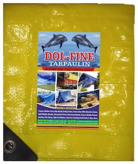 10X8FT HDPE WATERPROOF TARPAULIN WITH ISI MARK 120 GSM BLACK/YELLOW COLOR