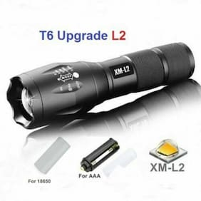 1100LM L2 LED Flashlight 5 Modes Zoomable Lamp Torch Outdoor Camping Light