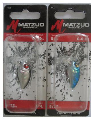 """2 5//32 oz MATZUO Nano Crank Shiner /& Chrome//Blue - 1/"""""""