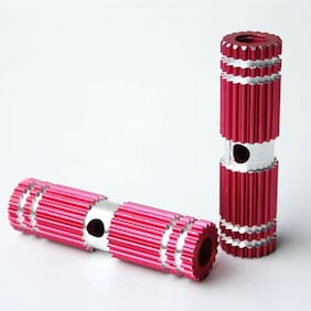 2 PCS Red Alloy Foot Pegs for Fixed Gear Bike Bicycle Axle