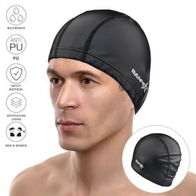 2019 New Style Women's Men's Waterproof High Elastic Bathing Hat Swimming Cap US