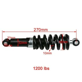 240mm 250mm 260mm 290mm Rear Shocks For Dirt Bike Thumpstar CRF50 70 SSR 1200lbs
