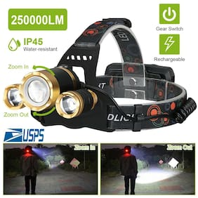 250000LM T6 LED Headlamp Headlight Flashlight Head Torch 18650 Rechargeable