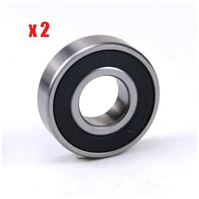 2x 6001-2RS Ball Bearing 12x28x8 Rubber Sealed 12mm x 28mm 6001RS Greased 6001PP