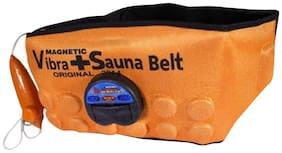 3 in 1 Magnetic Vibrate Sauna Belt Vibrating Magnetic Slimming Belt. (Orange) 1pc