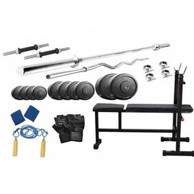 Protoner 40 Kg Weight Lifting With 3 In 1 Weight Bench And Home Gym Accessories