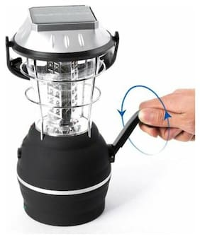 36 LED Camping Lantern Soalr Powered & Battery & Car Charger for Emergencies BP