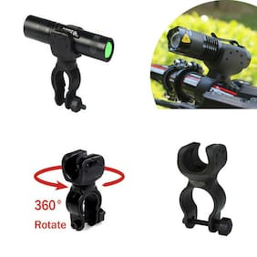 360 Degree Bicycle LED Flashlight Mount Holder For Bicycle Torch Clip Clamp New