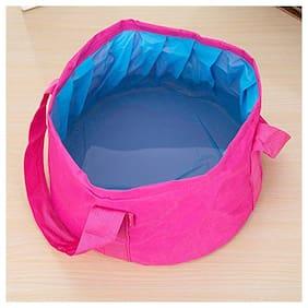 4square 10L Portable Folding Camping Wash Basin Bucket Bag Travel Outdoor