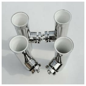4X Clamp on Fishing Rod Holder for Rails 7/8'' -1'' Stainless Steel Trumpet Tube