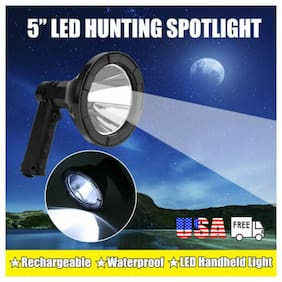 "5"" Inch LED CREE Rechargeable Spotlight Hunting Handheld Torch Spot Search Lamp"