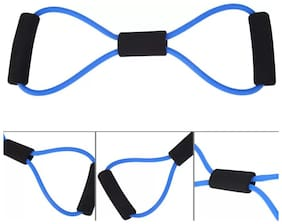 8 Shape Exercise Band/Stretch Fitness Band Resistance Tube (Multicolor) 1Pc