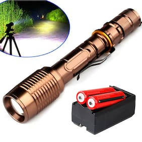 90000LM Police Tactical T6 LED 5 Modes 18650 Flashlight Torch Lamp Zoomable USA