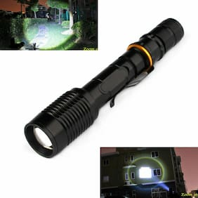 950000LM Ultra Brightest 18650 LED Flashlight 5 Modes Zoomable Military Torch