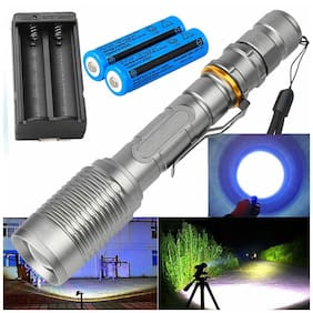 990000LM Super Bright Police Tactical LED Flashlight 5 Modes Zoomable Torch Lamp
