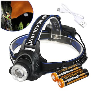 990000Lumens T6 LED Headlamp Zoomable HeadLight 18650 Lamp +Battery +Charger USA