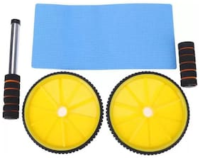 AB Wheel Roller for AB Exerciser with Knee Mat Ab Exerciser (Assorted Color) (1pc)