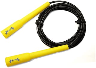 ABB INITIO Adjustable Slim Shape Weight Loss Ball Pencil Speed Skipping Rope Yellow (275cm)