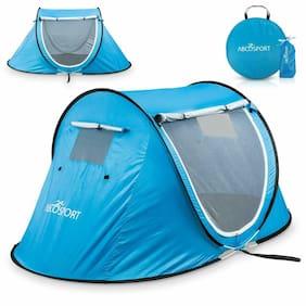 Abco Tech Pop-up Tent Instant Portable Cabana Beach Pop Up Tent For 2 Sky Blue
