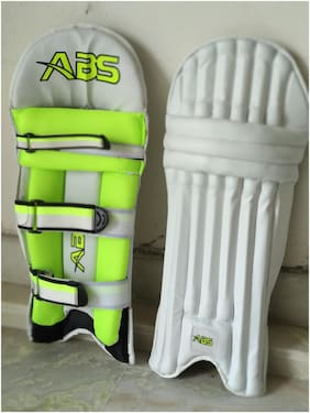 ABS Optipro Youth Batting Pad  (White, Right Hand)