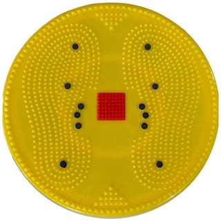 Acupressure Twister Big Disc Acupressure Pyramid & Magnetic Treatment Therapy-284 (Yellow)