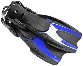 Adult Fins Snorkeling Scuba Diving Swimming Blue Size 4.5-8.5 Women