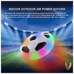 Air Power Soccer Kids Football Disk with Foam Bumpers and Light up   Football - Size: 1 (Pack of 1, Assorted color)