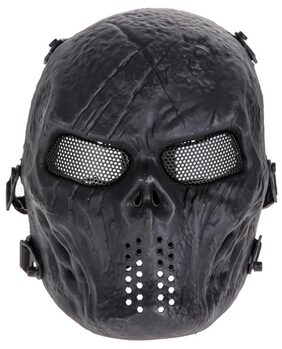 Airsoft Paintball Tactical Full Face Protection Skull Mask Army(Black)