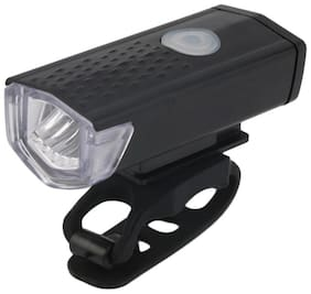 Alexvyan Black Rechargeable Waterproof USB Charging Cycle Front LED Headlight -3 Mode Bicycle Light