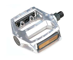 "Alloy Platform Pedals 9/16"" Silver Bicycle Pedals City BMX Mountain"
