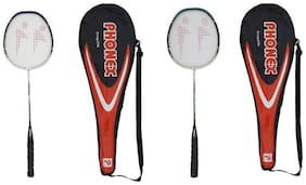 Aluminium Badminton Racket - 786 (COMBO of 02 rackets) Assorted color)