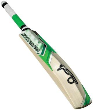 Aneesh&sons KOOKABURRA Sticker Poplar/Popular Willow Cricket Bat (For Tennis Ball)  FULL SIZE (For Age Group 15 Plus )
