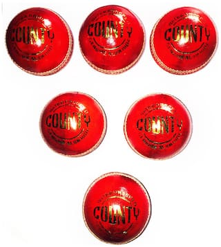 Angel Products County Leather Cricket Ball (Pack Of 6)