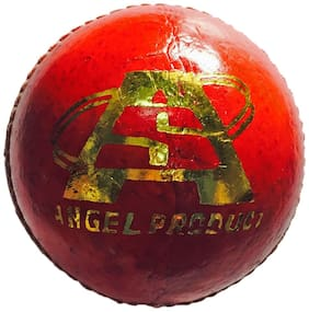 Angel Product County Leather Cricket Ball-Red (Pack Of 1)