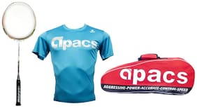 Apacs Finapi 232 Unstrung Badminton Racquet With Free Kit Bag And T-Shirt